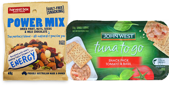 Healthy products 2 - Harvest Box and John West Tuna-to-go